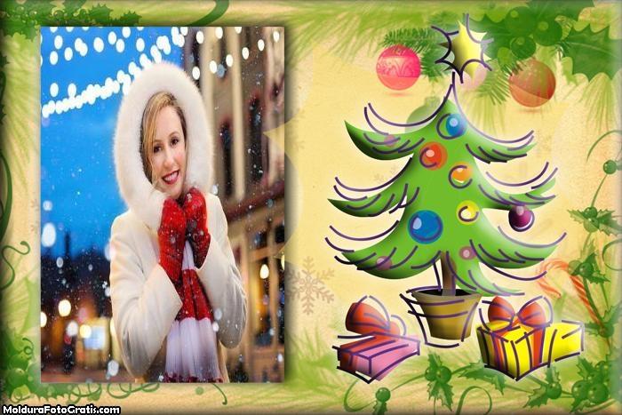 Árvore Natal Arte Moldura
