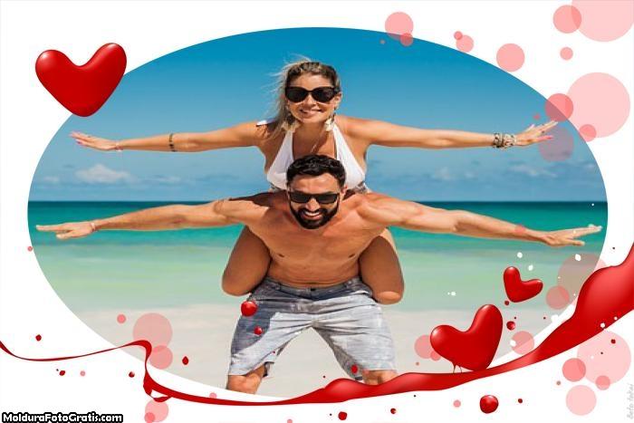 Moldura Rom�¢ntica Dia dos Namorados