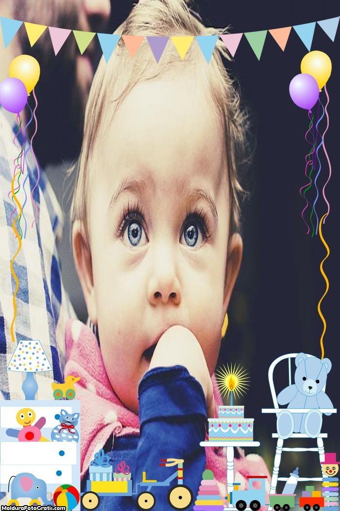 Festa de Aniversário de Bebê Moldura