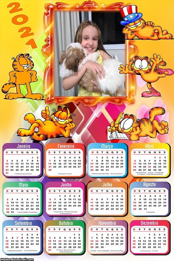 Calendário Garfield 2021