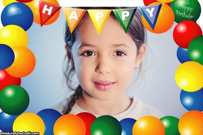 Moldura Happy Feliz Aniversário