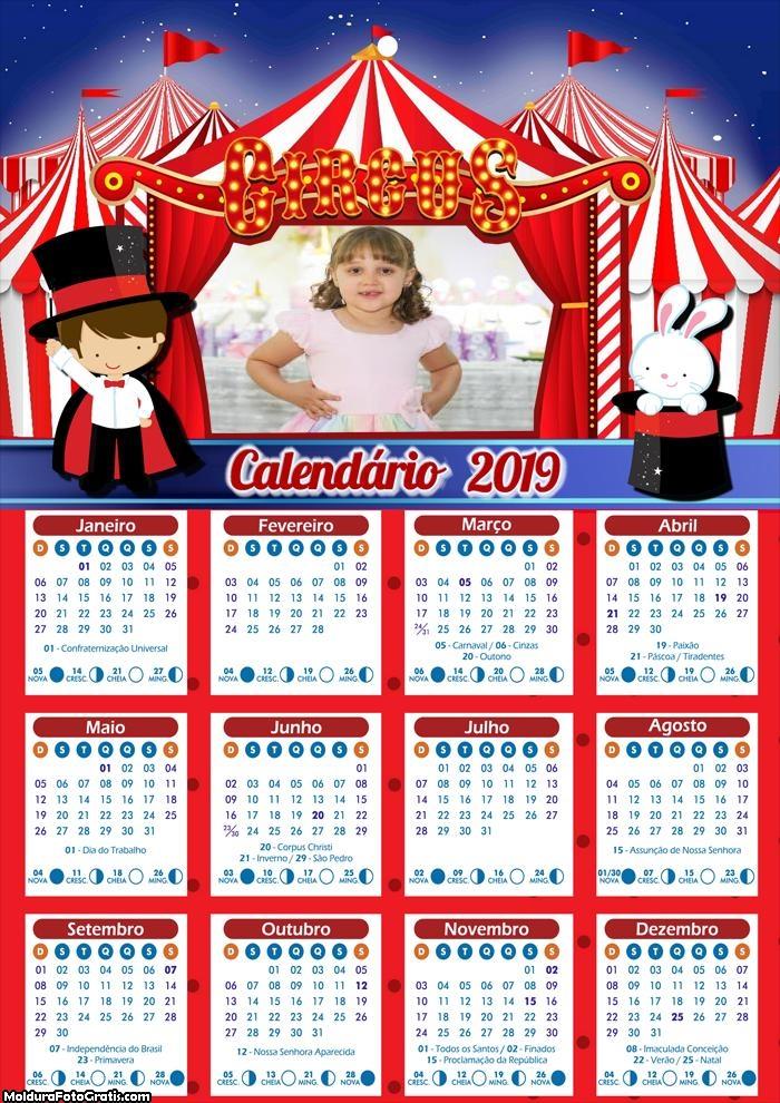 Calendário Circo Mágico 2019