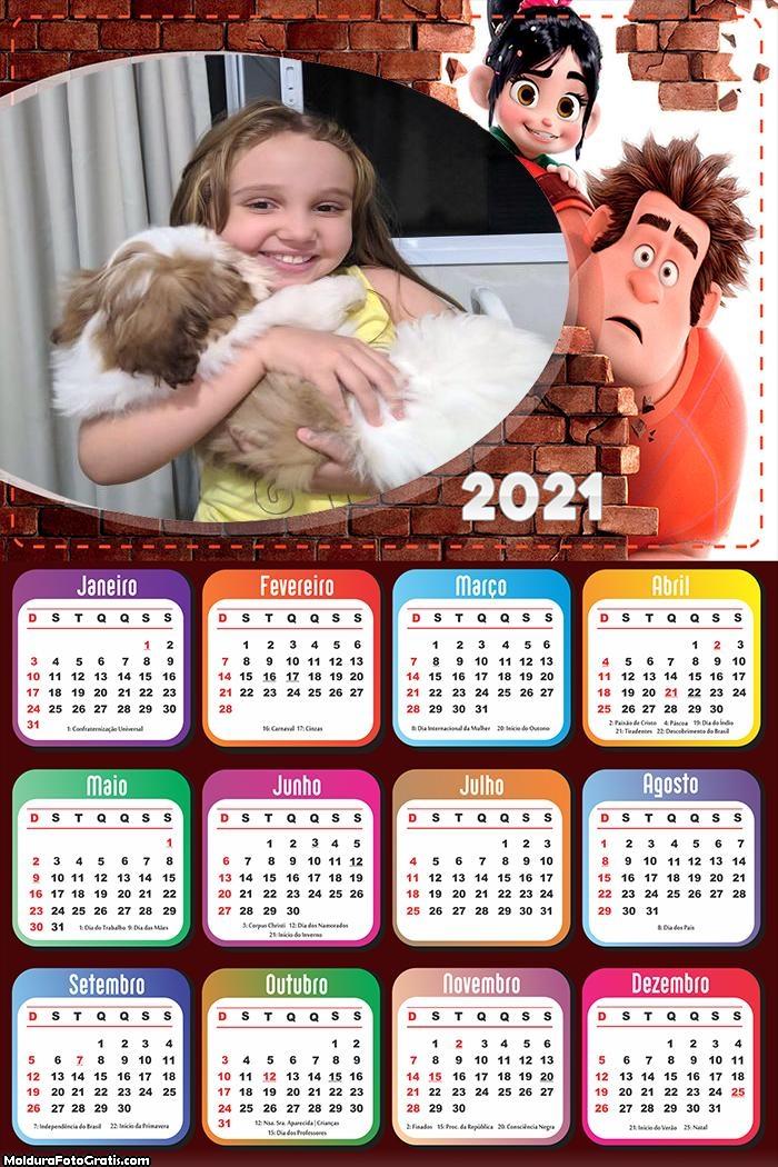 Calendário Detona Ralph 2021