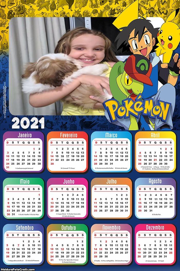 Calendário Pokémon 2021