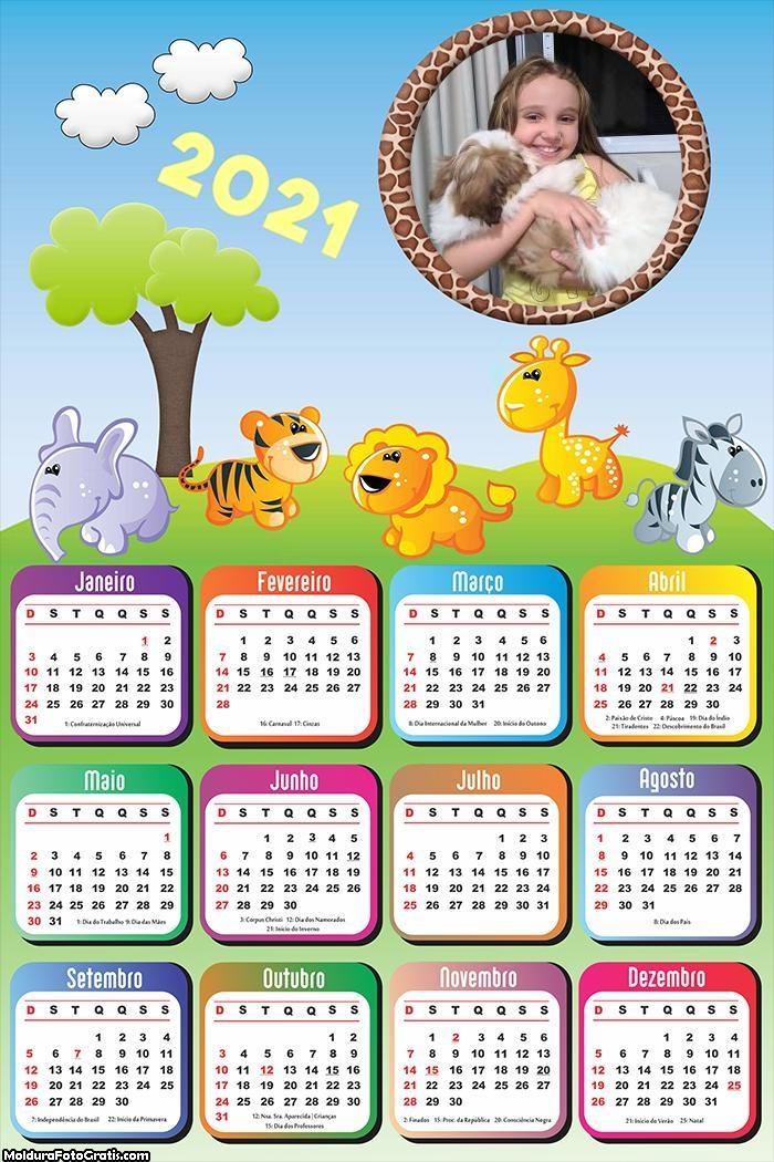 Calendário Infantil Safari 2021