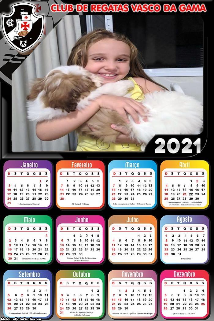 Calendário Vasco da Gama 2021