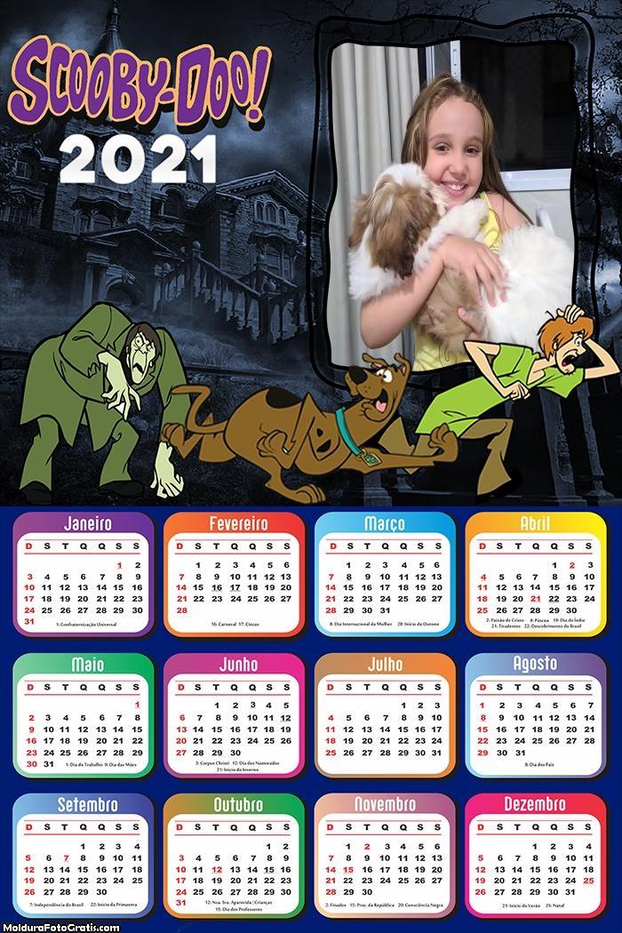 Calendário Scooby Doo e Salsicha