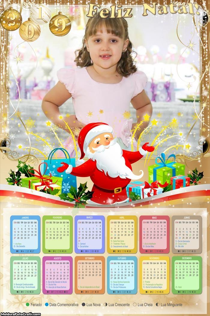 Calendário Lindo Papai Noel 2019