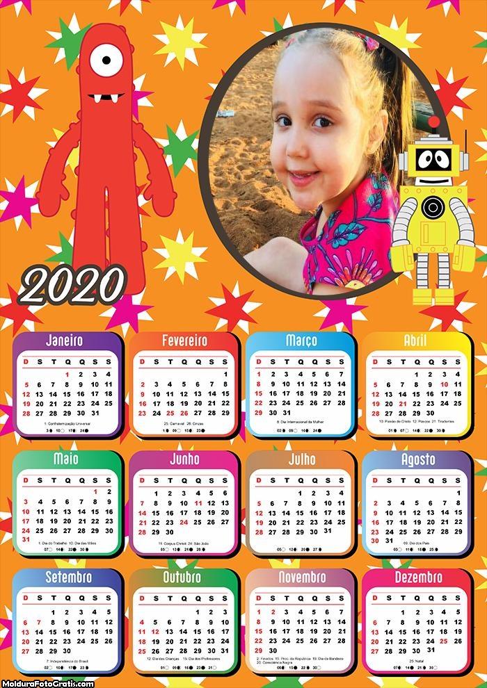 Calendário para Crianças 2020