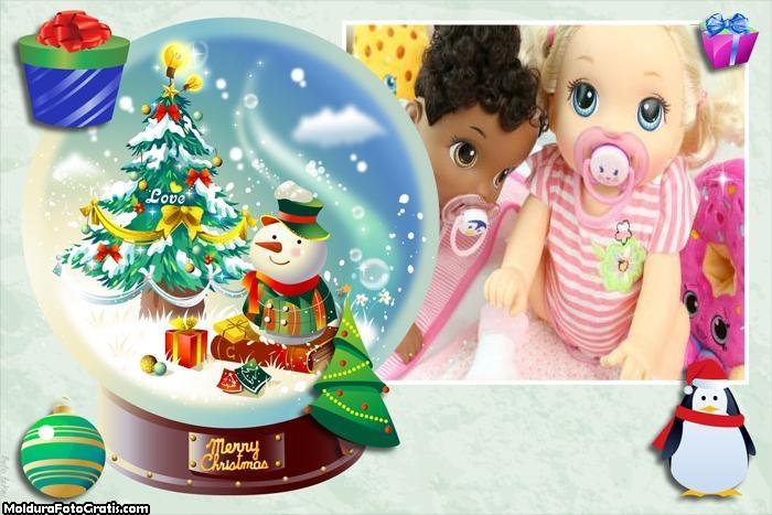 Lembrança de Natal em Bola de Virdro
