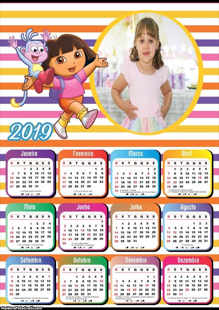 Calendário Dora Aventureira 2019