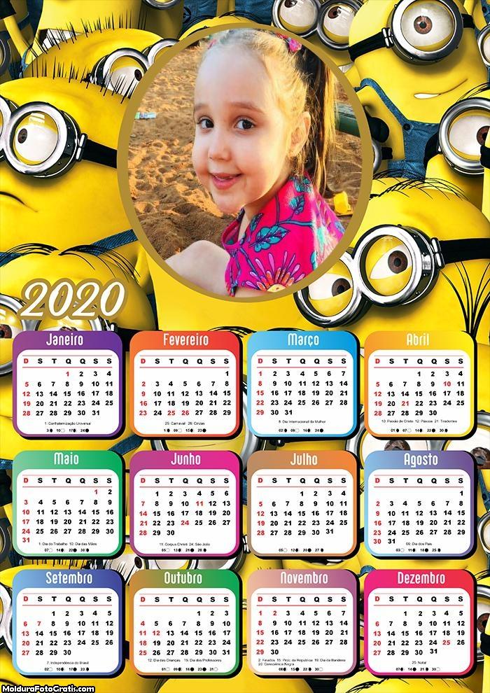 Calendário Minnions 2020
