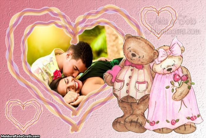 Moldura Amor de Ursinhos