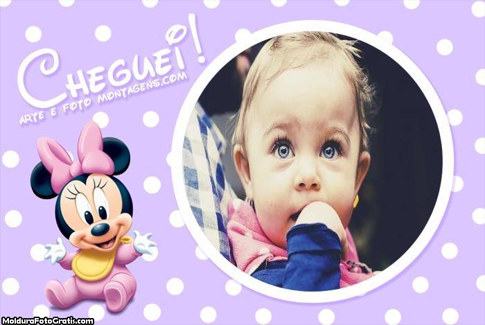 Minnie Baby Cheguei Moldura