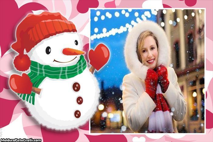 Boneco de Neve Moldura Natal