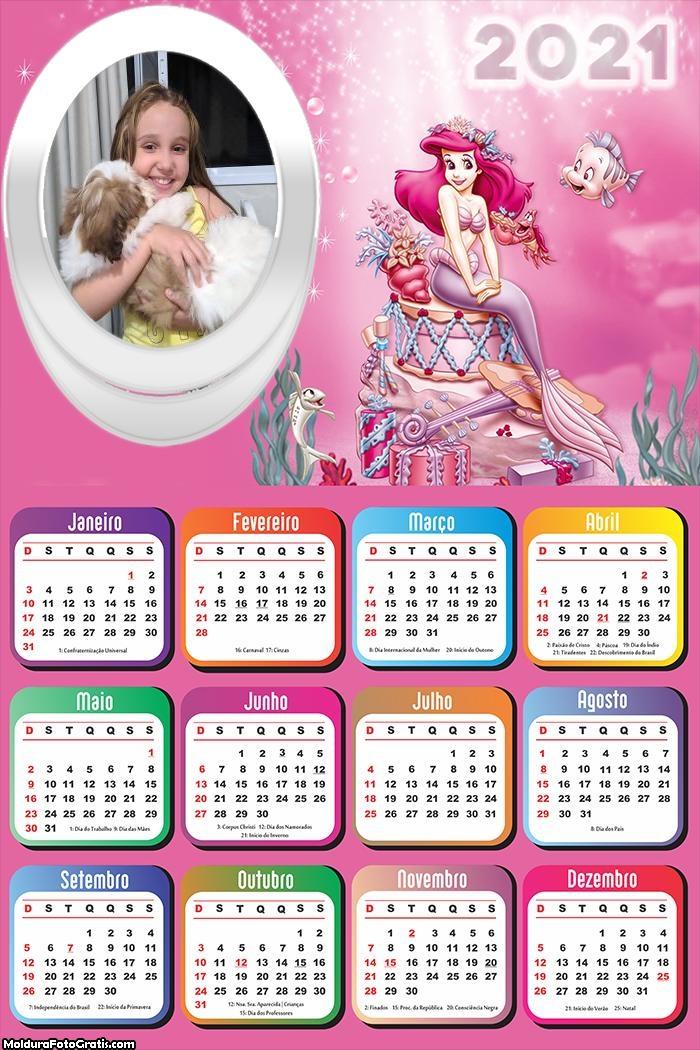 Calendário Ariel Cor de Rosa 2021