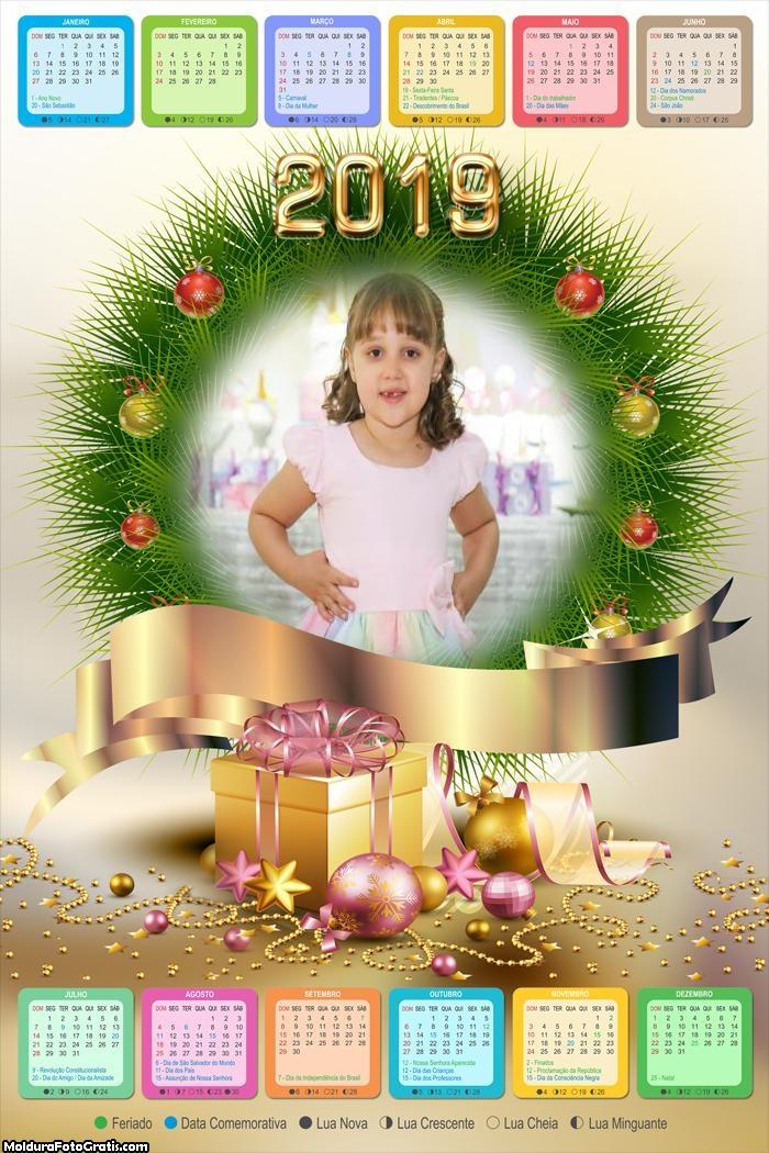 Calendário Guirlandas de Natal 2019