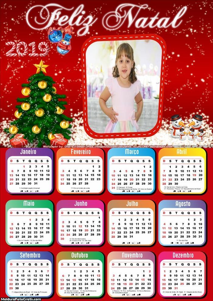 Calendário Felicidades Neste Natal 2019