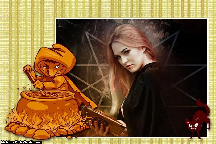 Bruxa no Caldeira Moldura
