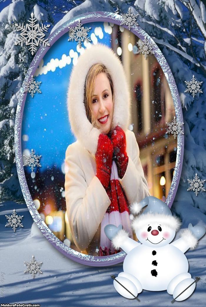 Boneco de Neve Natal Moldura