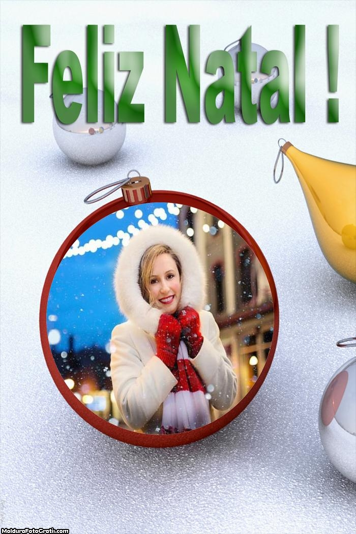 Feliz Natal Máscara Digital Online