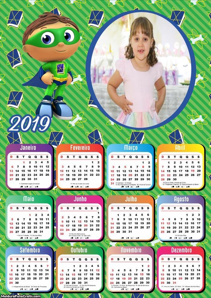 Calendário Superwhy 2019
