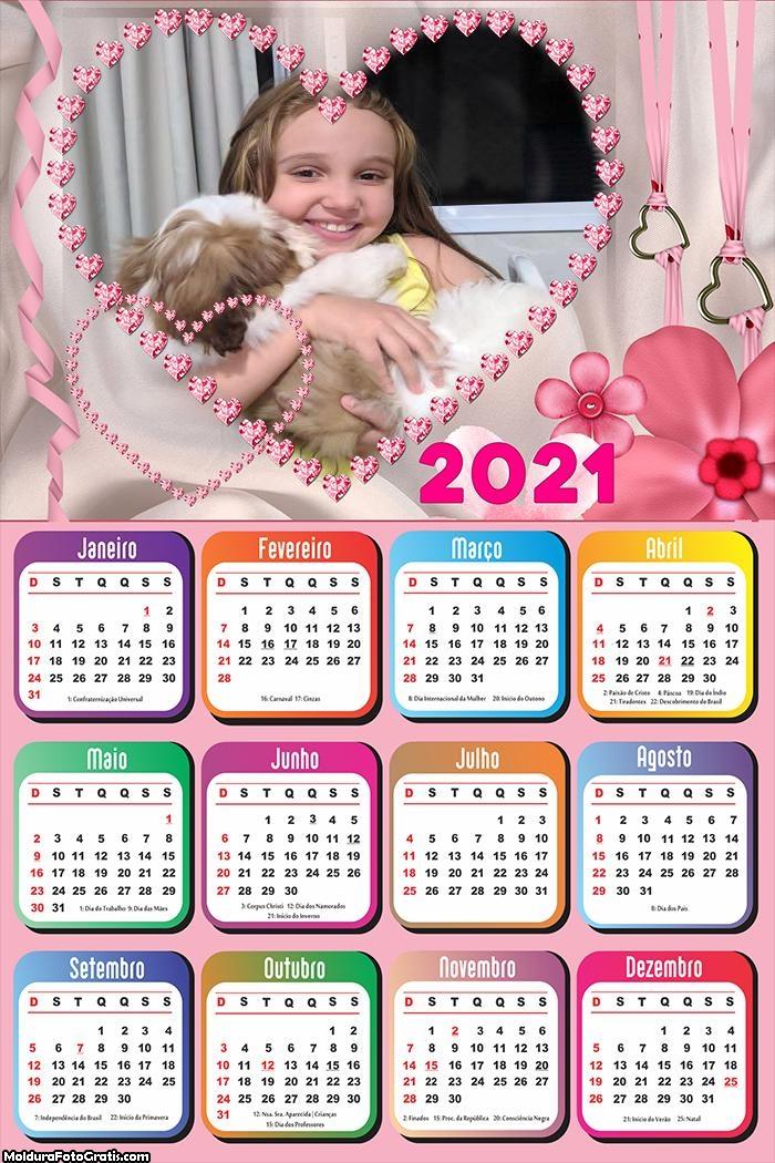 Calendário Namorados Românticos 2021