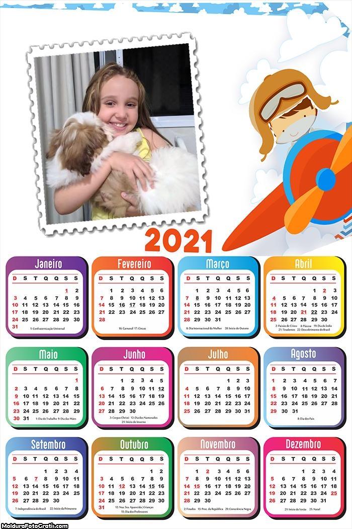 Calendário Menino Aviador 2021