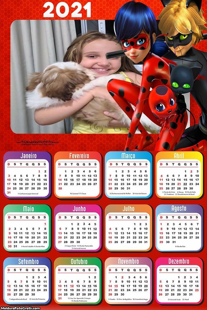 Calendário Ladybug 2021
