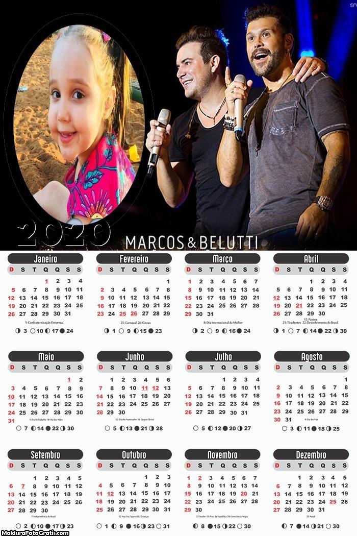 Calendário Marcos e Belutti 2020