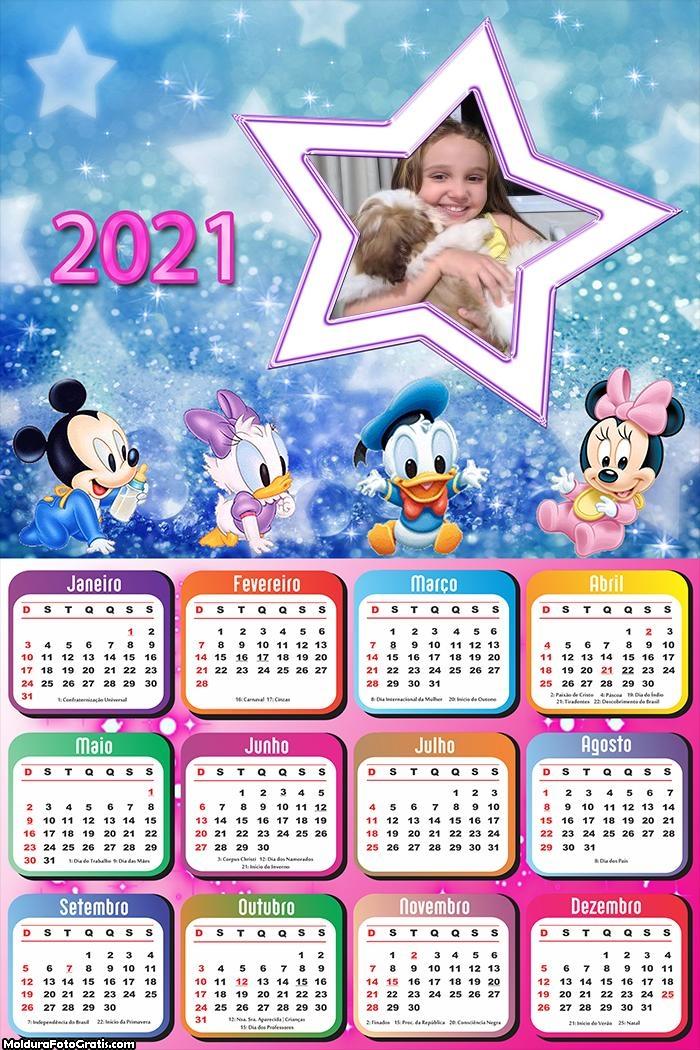 Calendário Disney Baby Estrela 2021