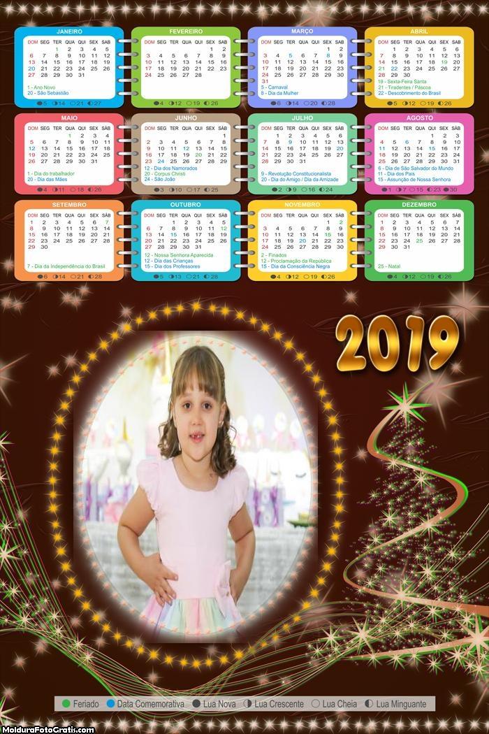 Calendário Luzes Douradas Natal 2019