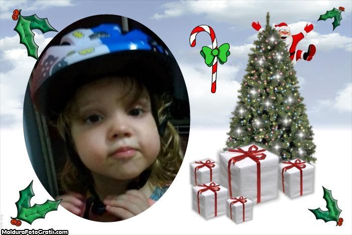 FotoMoldura Presentes e Pinheiro Natal