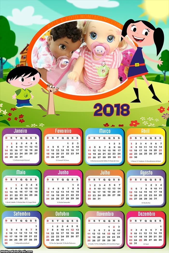 Calendário do Show da Luna 2018