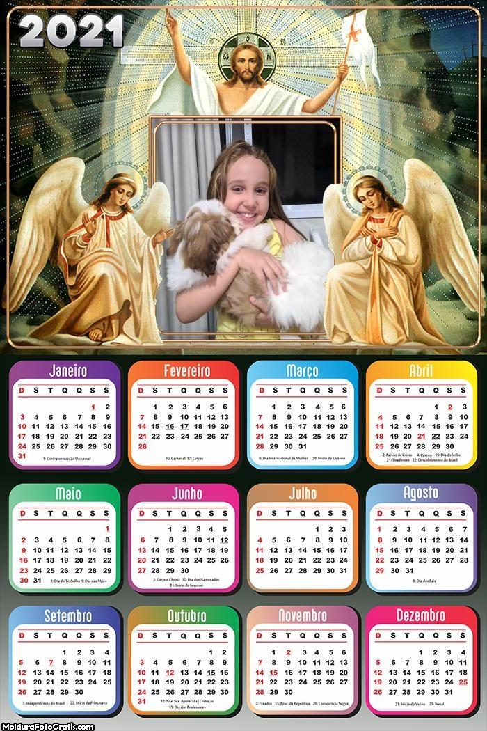 Calendário Anjos e Jesus 2021