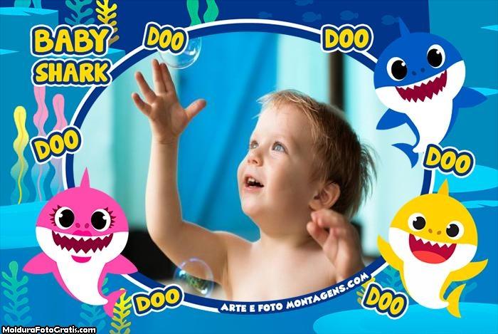 Baby Shark Família Montagem de Foto