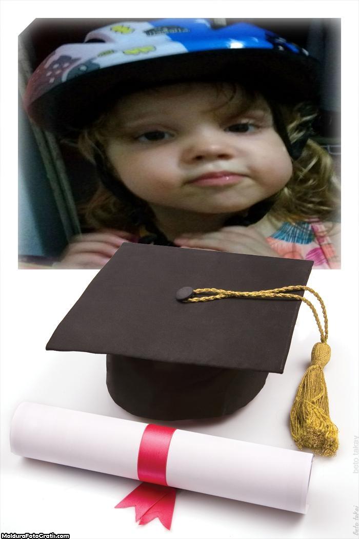 Diploma e Canudo Montagem de Foto Online