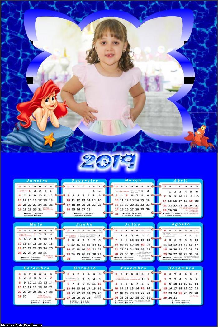 Calendário Ariel e Sebastian 2019