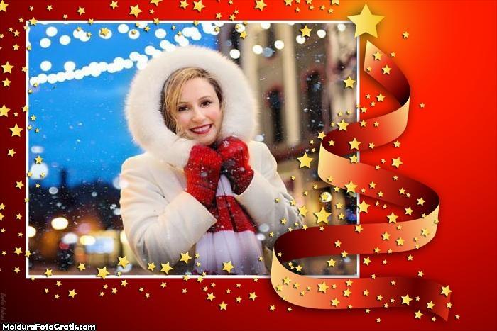 Estrelinhas de Natal Moldura