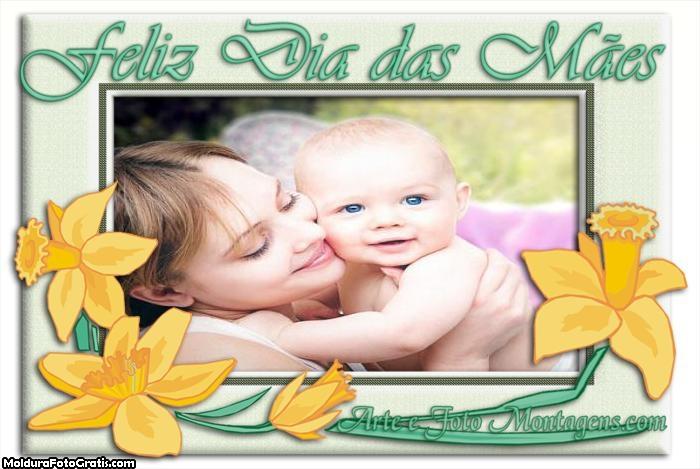 Feliz dia das Mães Flores Amarelas