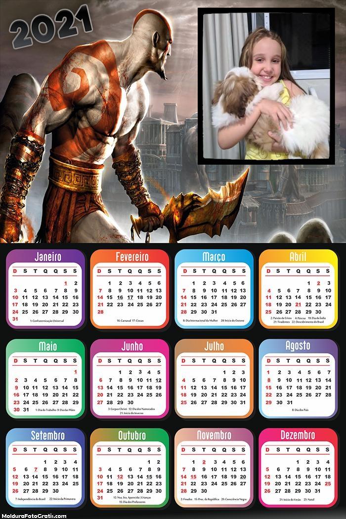Calendário God of War 2021