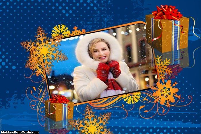 Presente de Natal Criativo Moldura