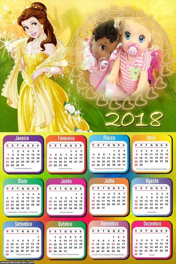 Calendário da Princesa Bella 2018