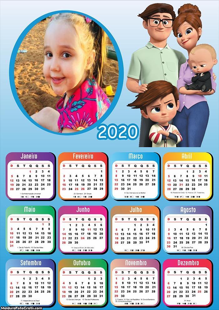 Calendário Personagens Poderoso Chefinho 2020