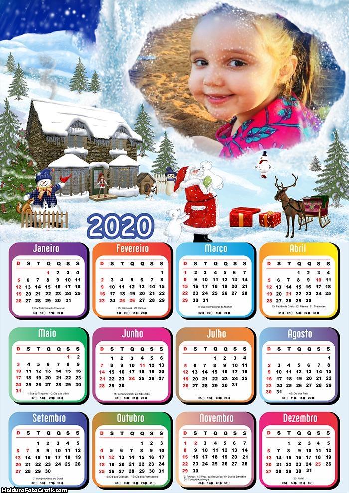 Calendário Cidade do Papai Noel 2020