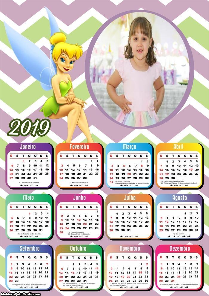 Calendário Tinker Bell 2019