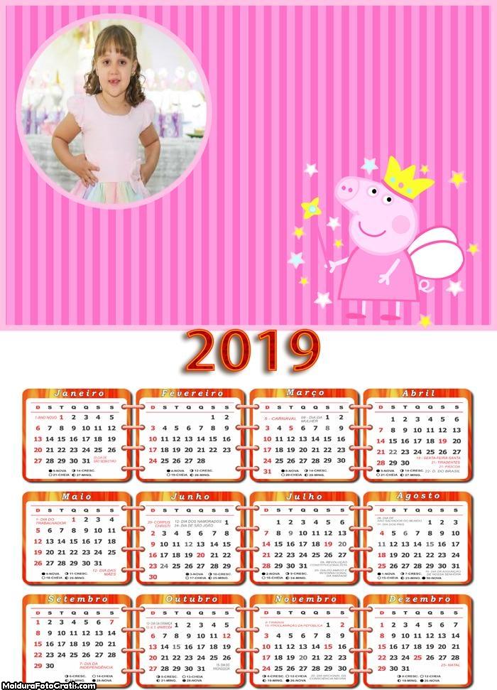 Calendário Peppa Pig Fada 2019