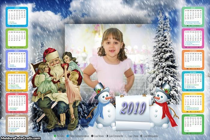 Calendário Papai Noel de Verdade 2019