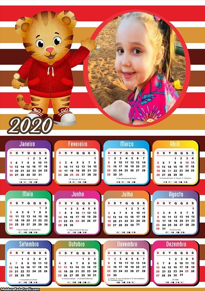 Calendário Tiger 2020