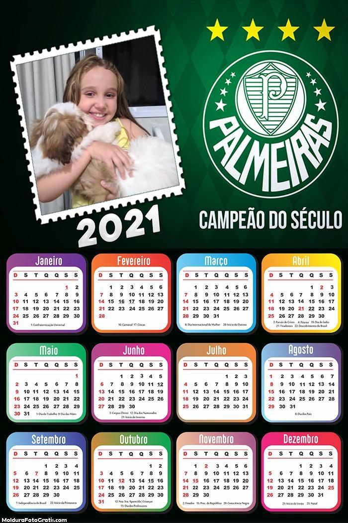 Calendário Palmeiras Campeão 2021